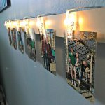 Quick and Easy DIY Light Clip Display Board. Fun way to display kid's art, photos, notes, and more.
