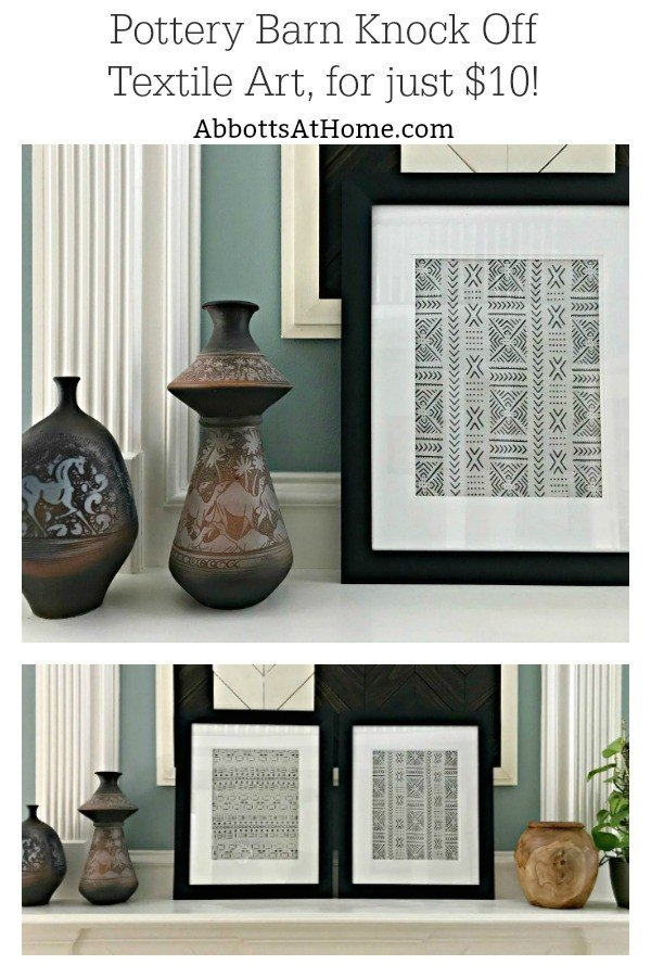 DIY Pottery Barn Knock Off Textile Art For Between $10 And $20 Each. This  DIY