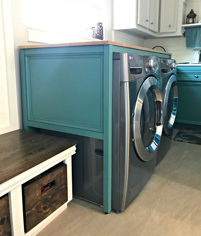 Easy Over Washer and Dryer DIY Laundry Table