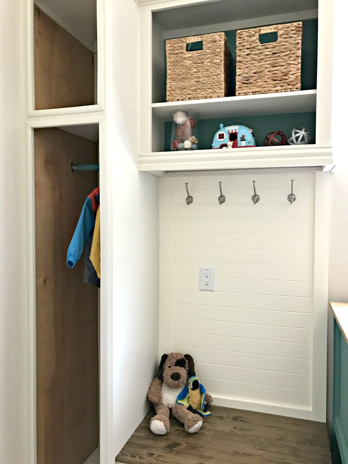 Easy DIY Open Cabinet Makeover with Plywood Panels
