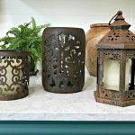 3 items updated with rust paint. You have to try this DIY Rust Paint Technique. I love how easy this is, just paint and spray! #PatinaPaint #Rust #DixieBellePaint #AbbottsAtHome