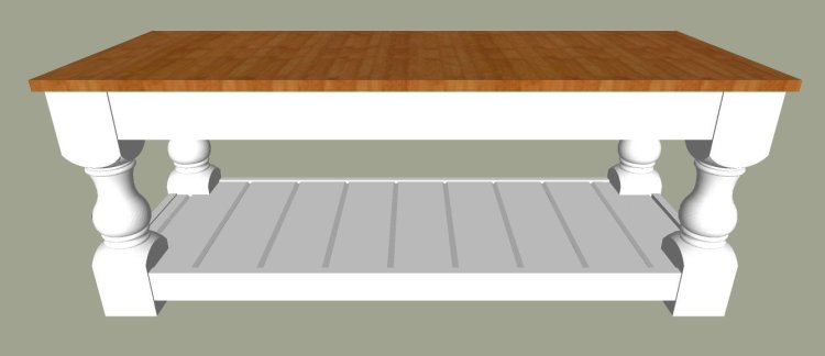 "1"" Thick Plywood or Edge-Glued Top. The printable build plans for my popular Modern Farmhouse Bench are now available. Includes 5 beautiful wood top options to turn it into a pretty Farmhouse coffee table instead. Get the DIY Farmhouse Coffee Table Plans today. #AbbottsAtHome #Bench #CoffeeTable #DIYFurniture #FurniturePlans"