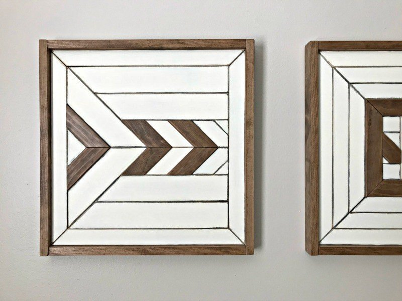 Custom Scrap Wood Wall Art Makeover