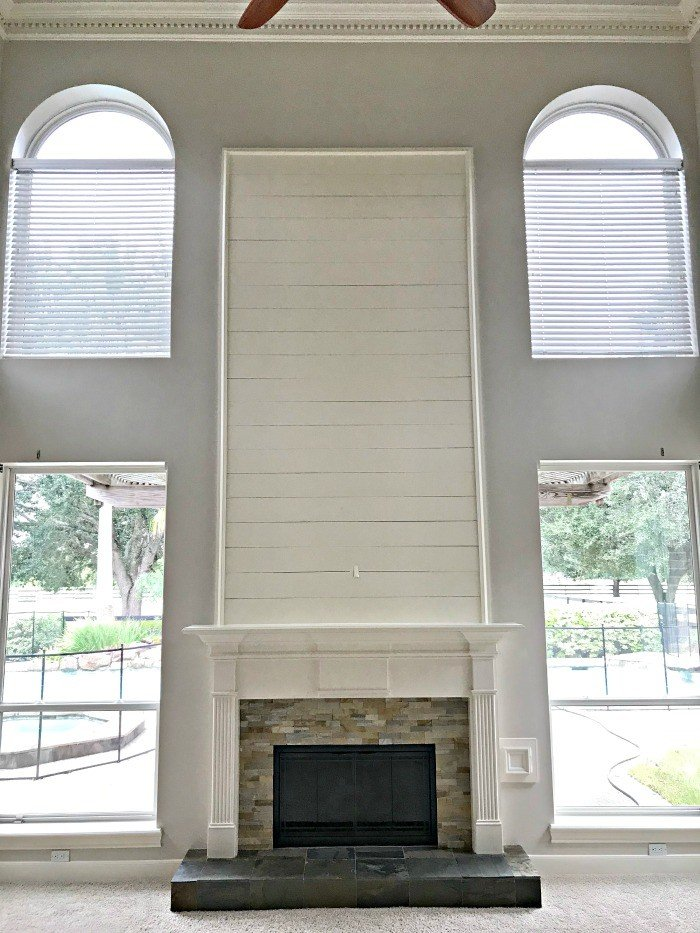 Our Beautiful Shiplap Fireplace Wall …near fail!
