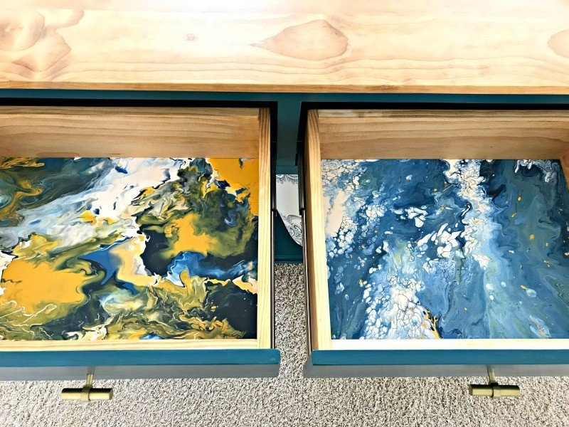 Fun & Easy DIY Acrylic Pour Tutorial for Drawers