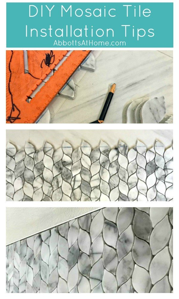 The one thing you absolutely have to do to DIY a professional look when installing tile! #AbbottsAtHome #DIY #Tile #Tiling #BathroomMakeover