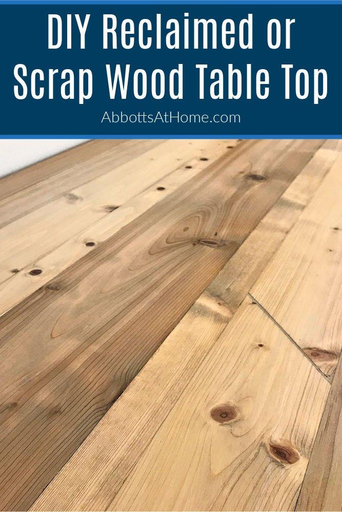 diy scrap wood table top and beautiful