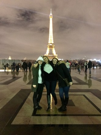 Shannon, Ally and I at the Eiffel Tower