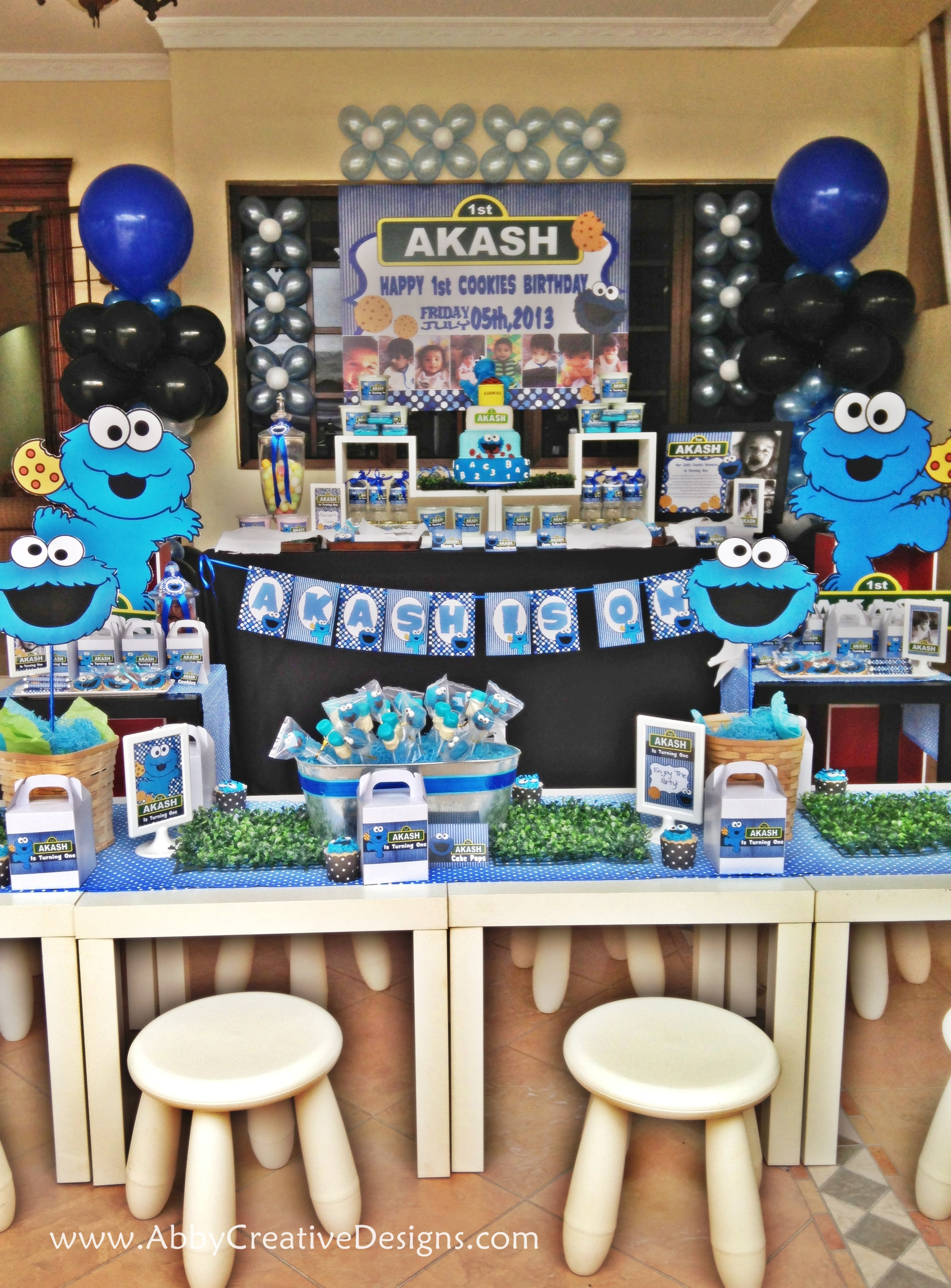 Theme Cookies Monster 1st Birthday Bash Its More Than Just A Party