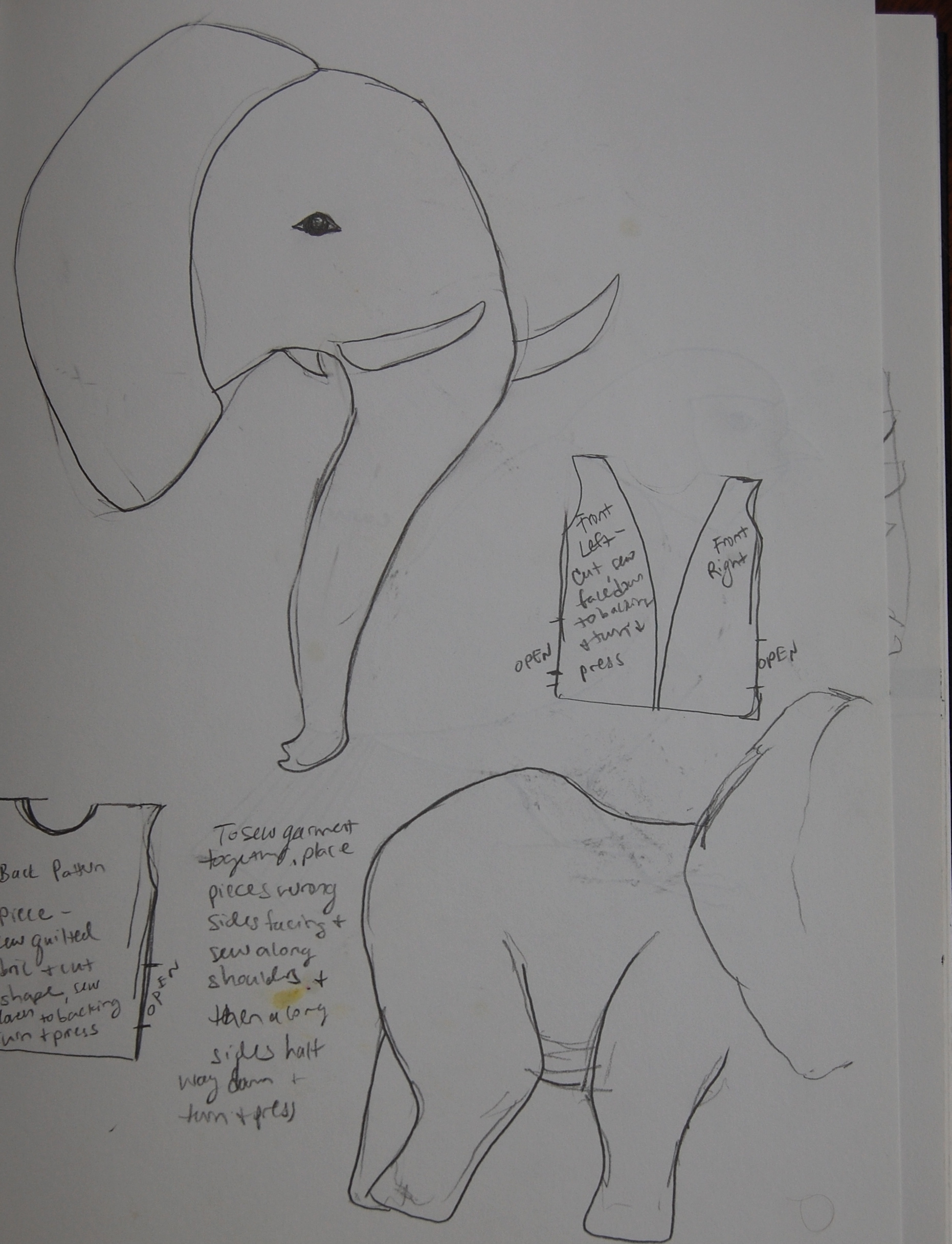 Elements of Soft Toy Design #4: Pattern Drafting for a