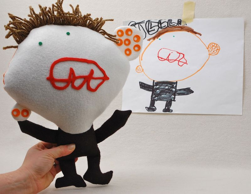 Plush Toy From a Child's Drawing