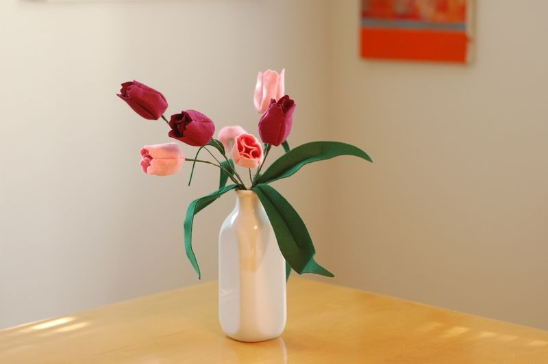 Felt Tulips 1