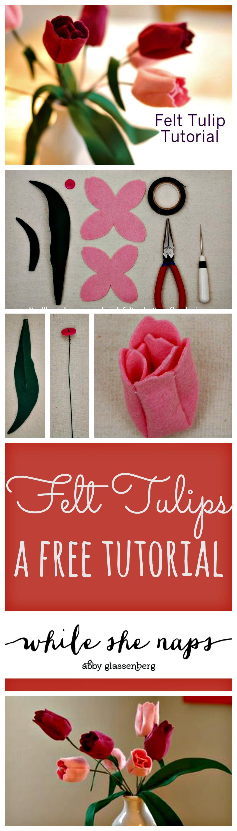 springtime craft tutorial  felt tulips
