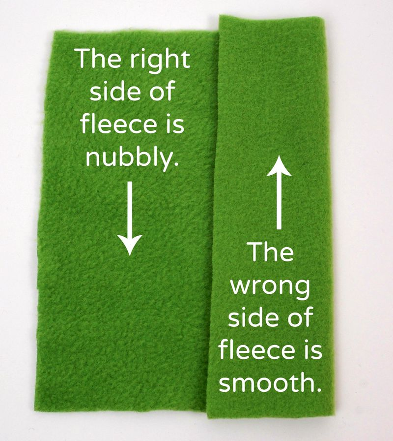 Right and wrong side