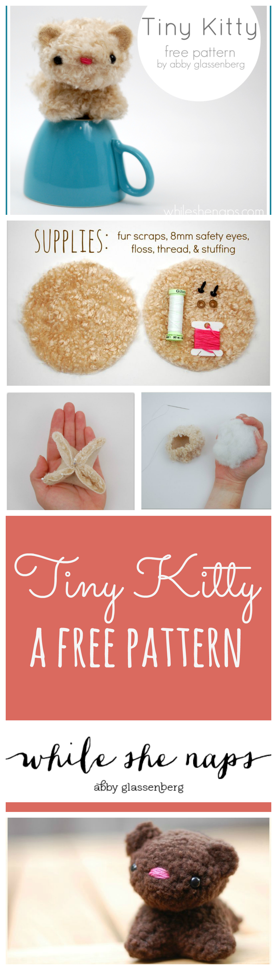 A free pattern for a Tiny Kitty.