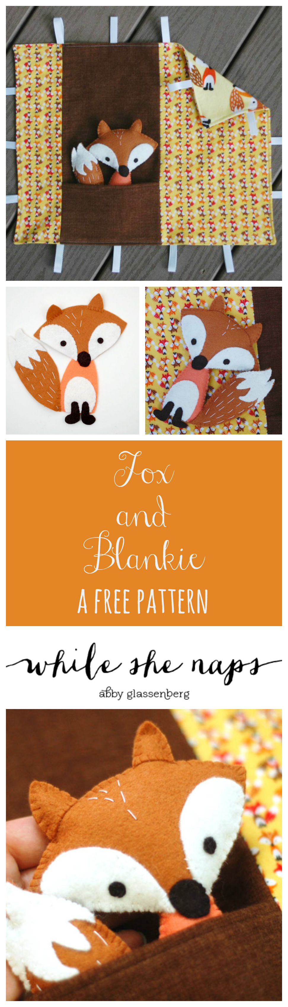 A free pattern for a Fox and Blankie.