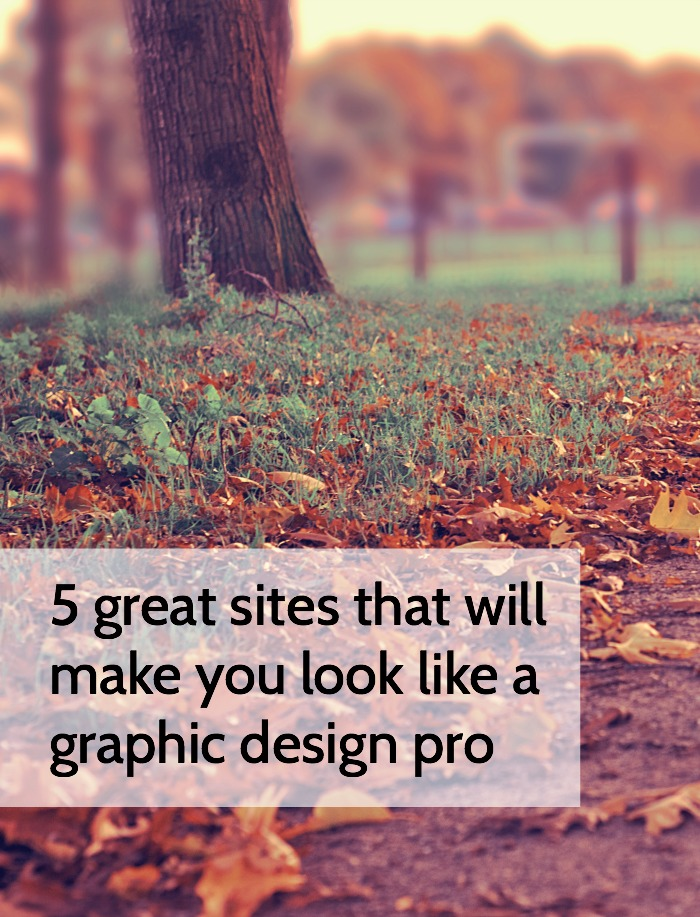 5 Great Sites That Will Make You Look Like a Graphic Design Pro