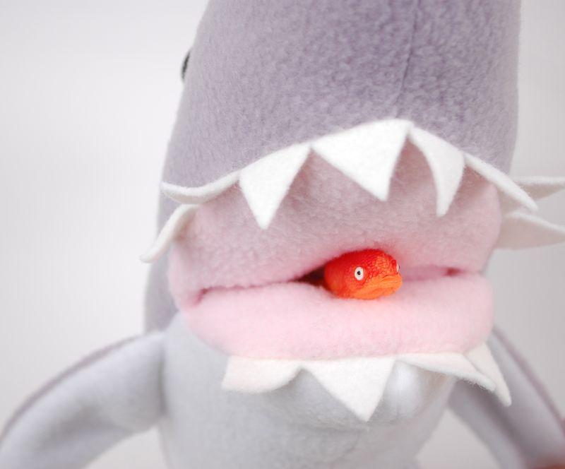 Shark Gobbling Fish