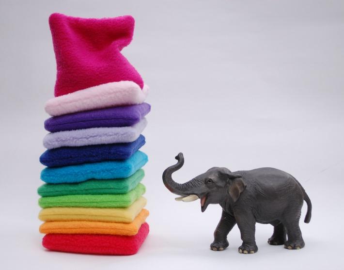 Rainbow Beanbags with Elephant