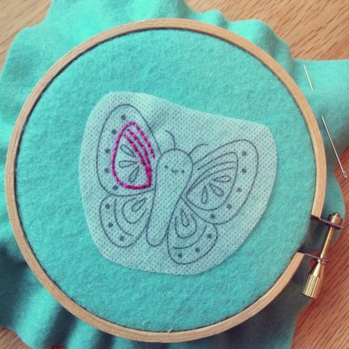 Butterfly in progress