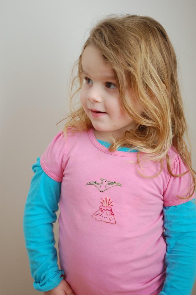 Josephine in t-shirt
