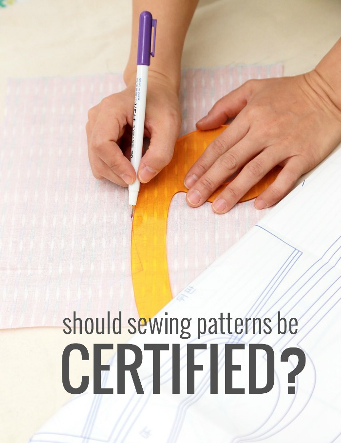 sewing patterns certified