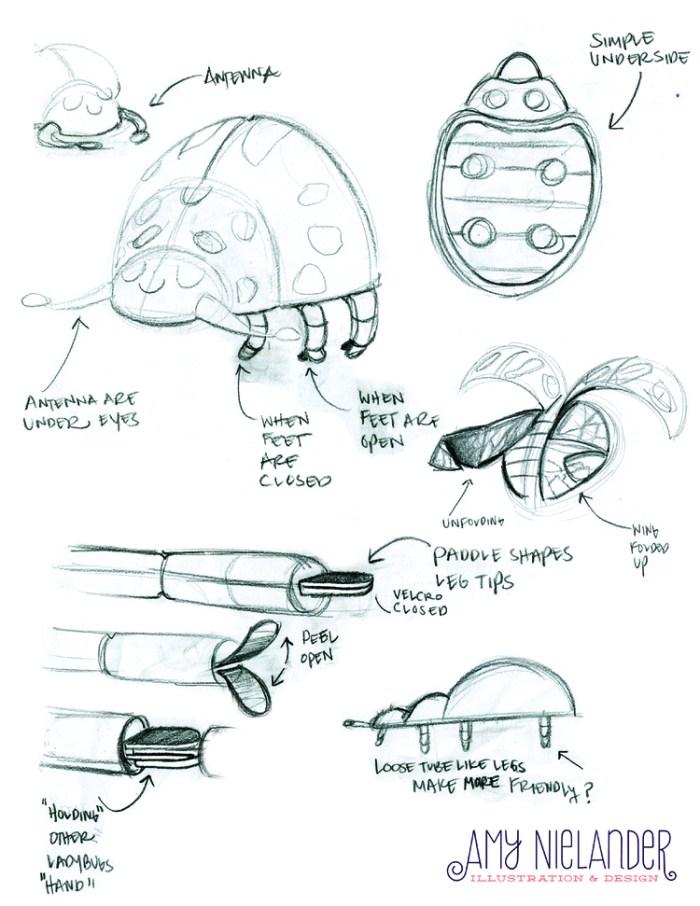 Ladybug race sketches