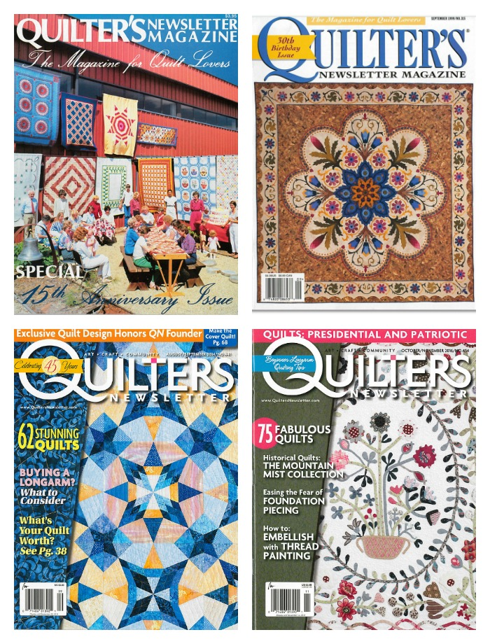 quilters-newsletter-covers