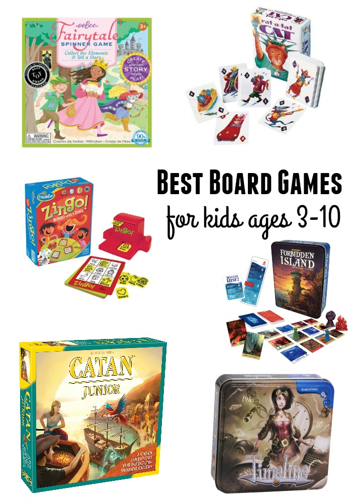 best board games kids ages 3-10