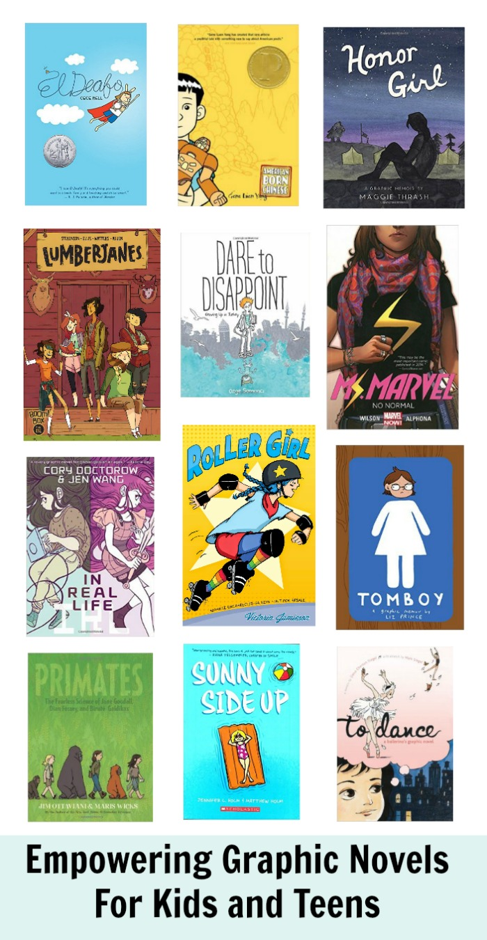 empowering graphic novels for kids and teens
