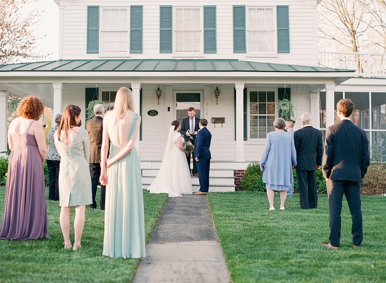 Micro wedding at a private home in Herndon, Virginia | Abby Grace Photography