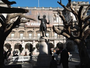 Wonder what Joshua Reynold 1723-1792, First President of the Royal Academy would have n=made of Ai Weiwei's Tree