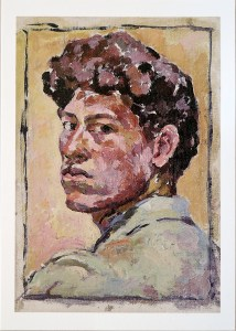 A post-impressionist style self-portrait painted 1921