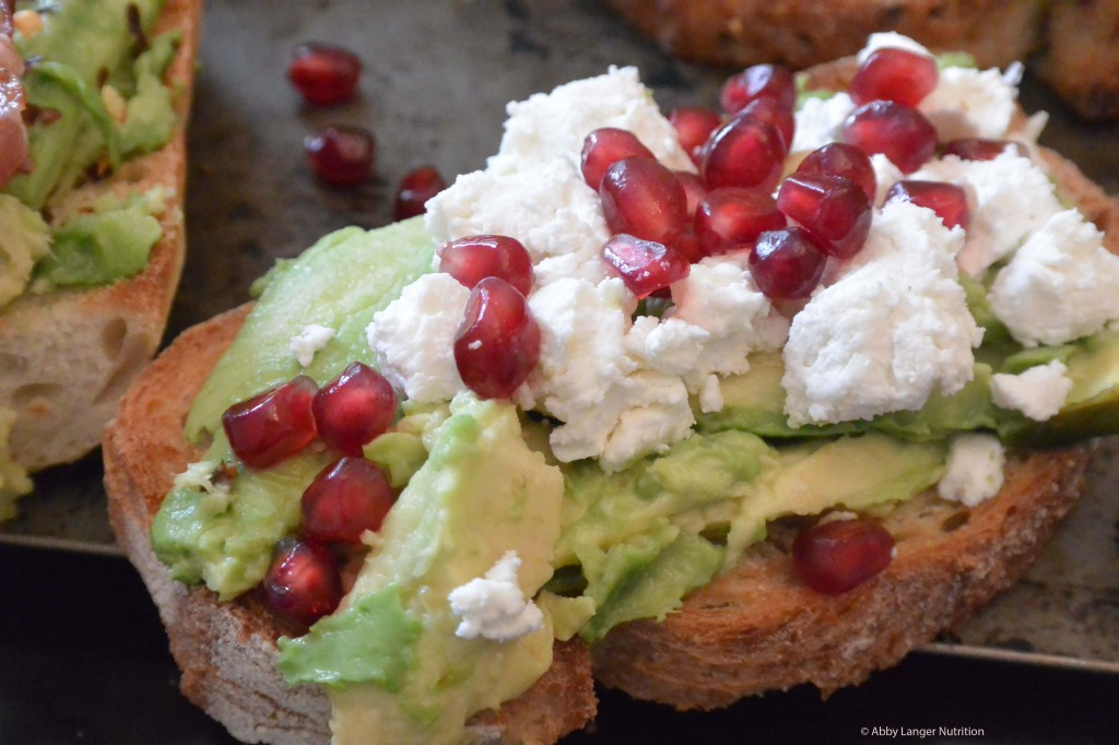 Pomegranate and goat cheese C