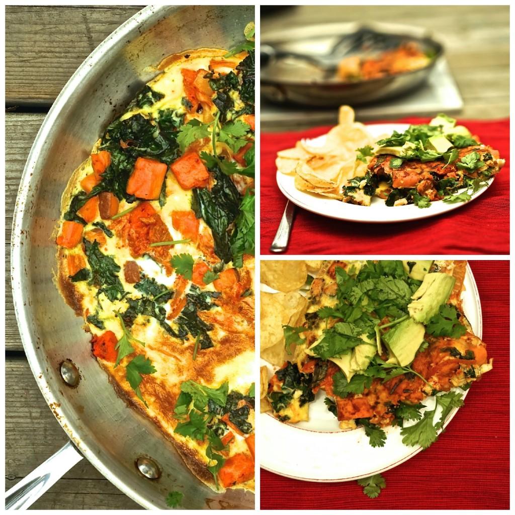 Kimchi Omelette Collage