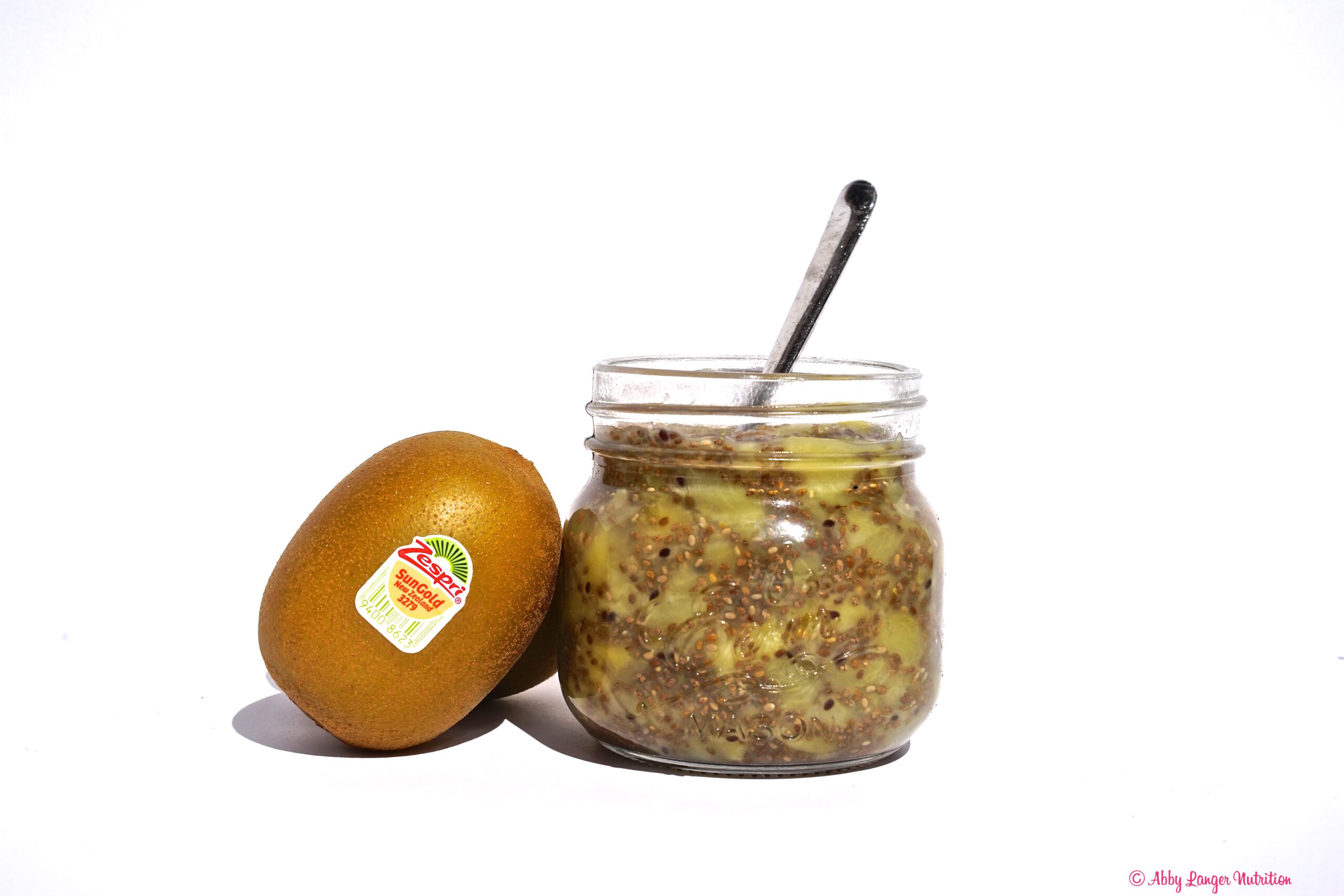 Easy And Quick Zespri Sungold Kiwifruit Chia Jam Abby Langer Nutrition