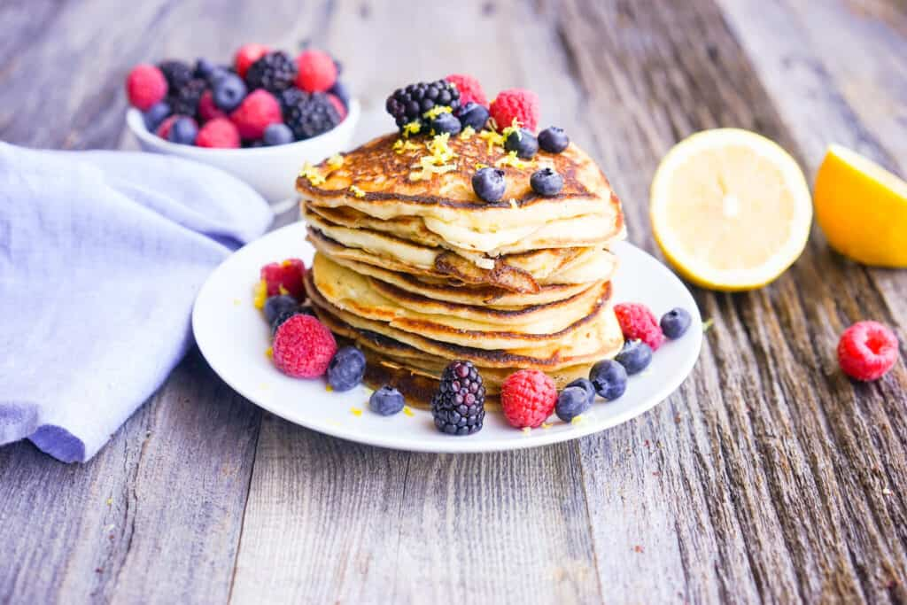 lemon ricotta protein pancake recipe