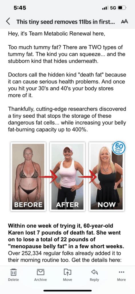 metabolic renewal program