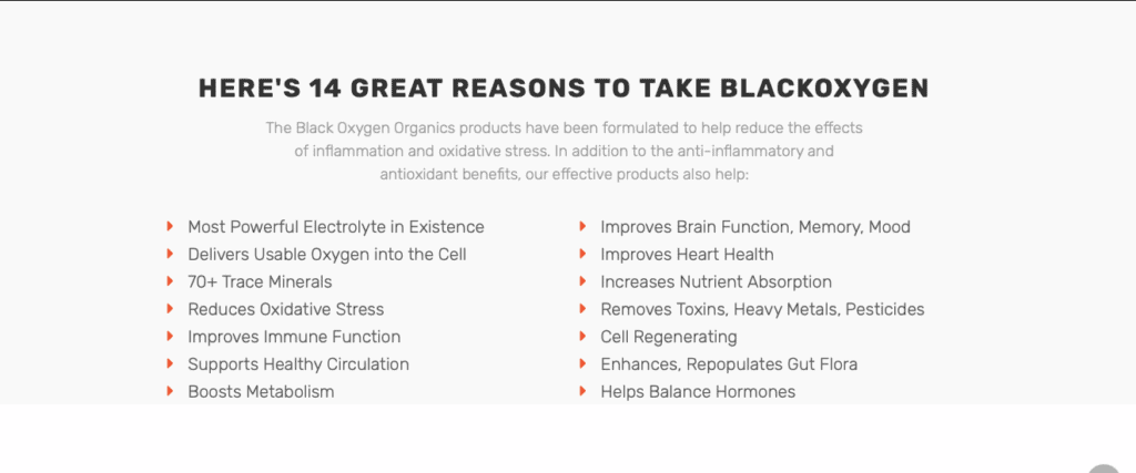 black oxygen organics review