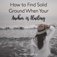 How to Find Your Way Back to Solid Ground