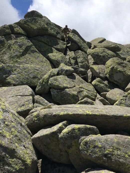 I see rocks, I gotta go up