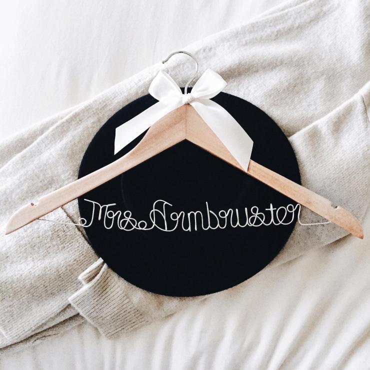Custom Wedding Dress Hanger etsy review