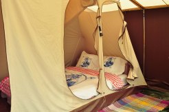 Double bed for comfy camping