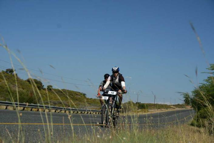 ABC bike and hike challenge - Biker rides in the fast lane.
