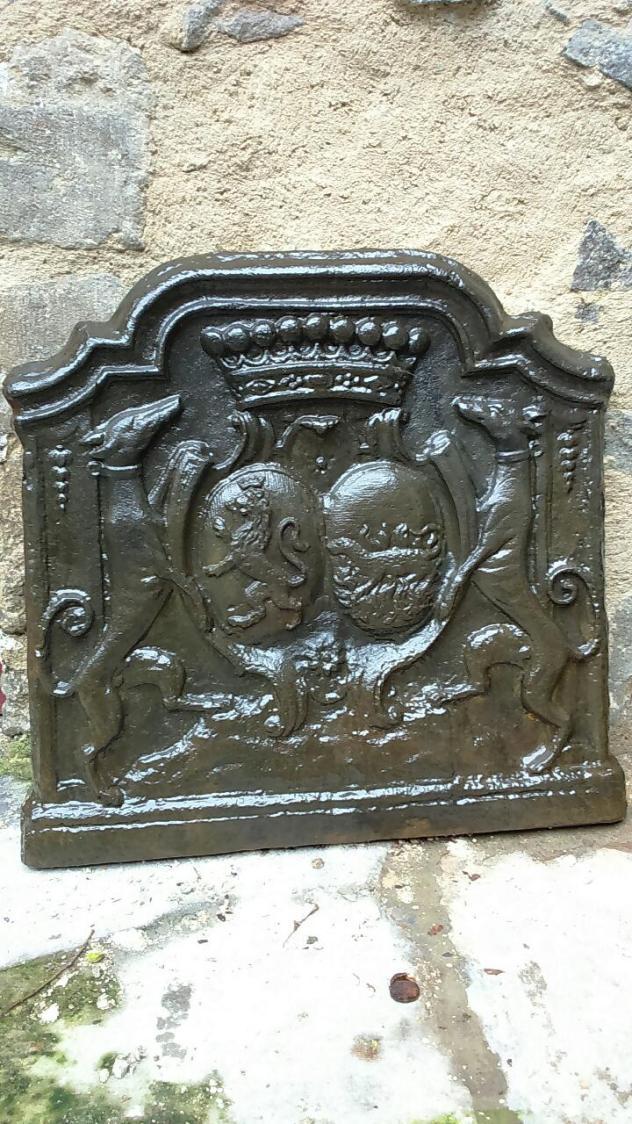 Plaque de Cheminée aux armes de Chabannes et Sallonyer