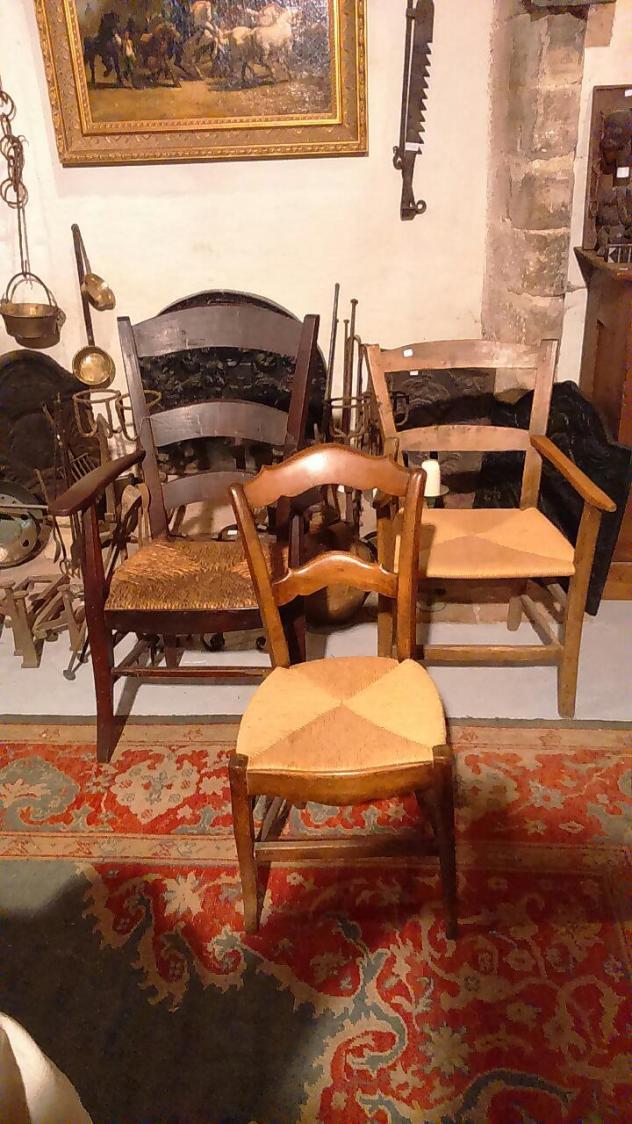 Chaises et Fauteuis Rustiques en Osier