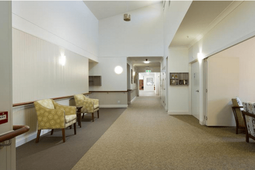Aged Care Home Painted with Rockcote.