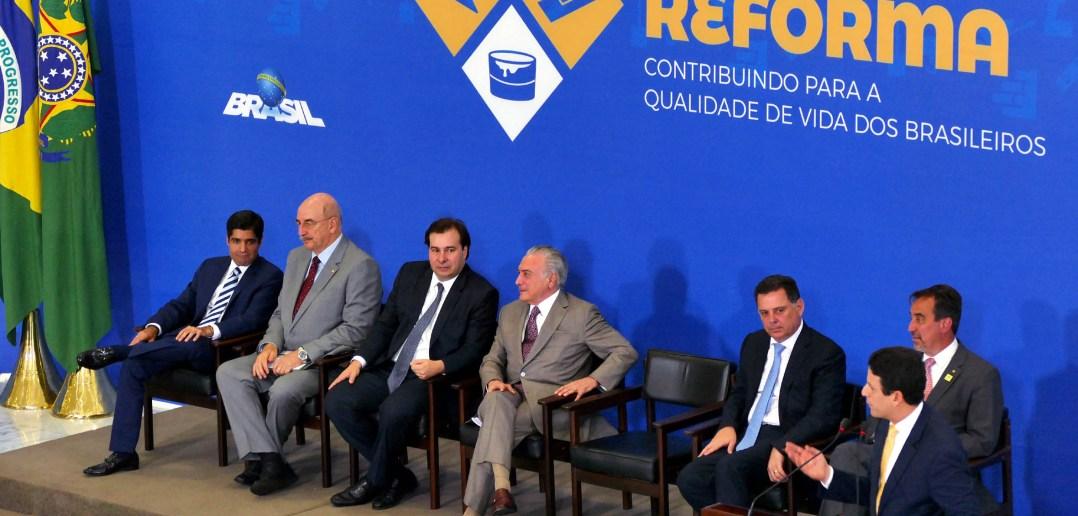 Lançamento do Cartão Reforma. Foto: Reprodução/ Orlando Brito