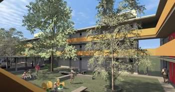 Layout proposto pelos arquitetos Monica Drucker e Ruben Otero respondeu a todos os requisitos do concurso, patrocinado pelo Instituto de Arquitetos do Brasil de São Paulo (IAB-SP) e a Companhia de Desenvolvimento Habitacional e Urbano (CDHU). Imagem: Divulgação