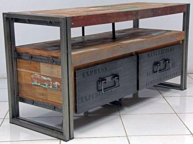 meubles bois et acier meubles